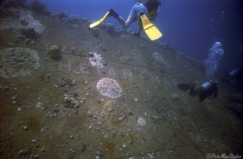 name showing on wreck